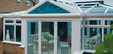 Bespoke Conservatory with Blue Glass Roof, installed in Oxford by Paradise Windows