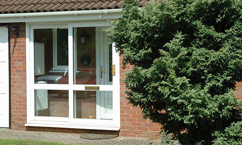White uPVC Door in Oxfordshire installed by Paradise Windows