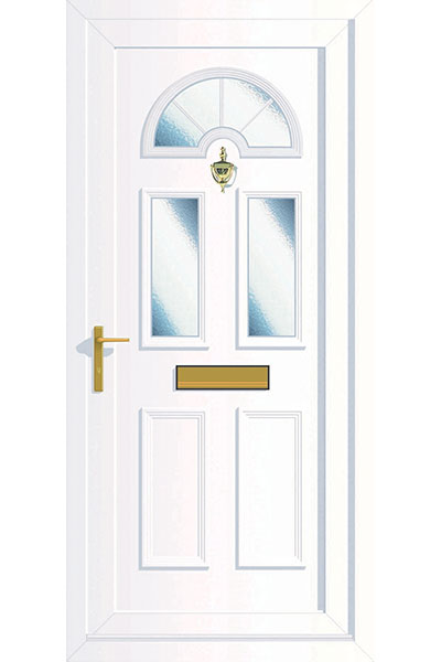 White uPVC Door in Simple Style Supplied by Paradise Windows
