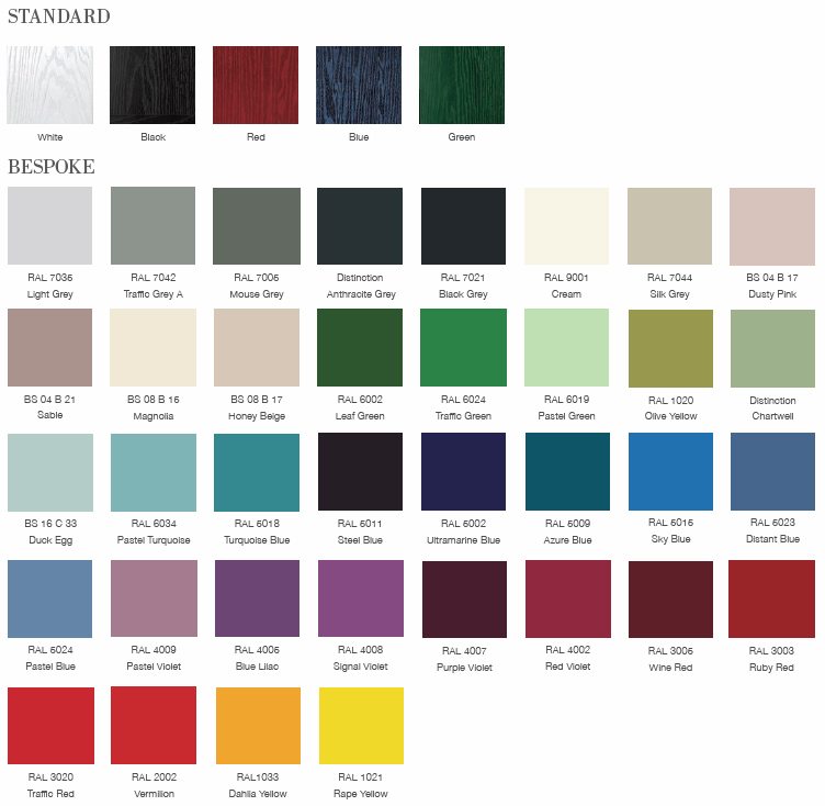 Composite Door Colour Options - Paradise Windows