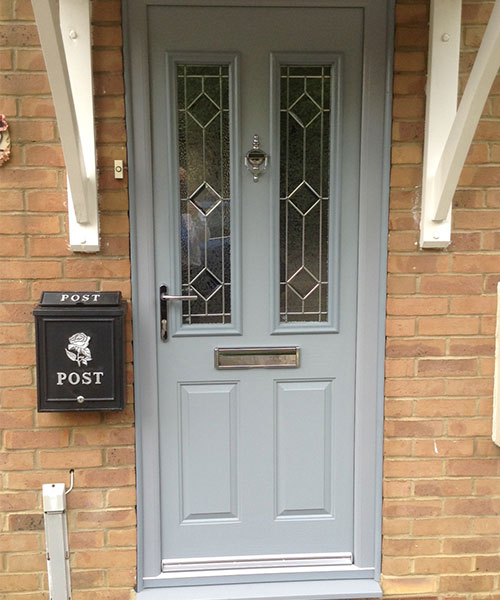Grey Composite Door fitted in Oxfordshire by Paradise Windows
