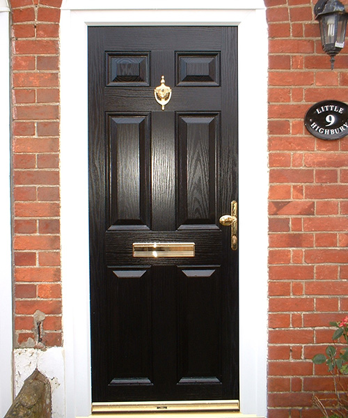 Replacement Black Composite Door fitted and installed by Paradise Windows