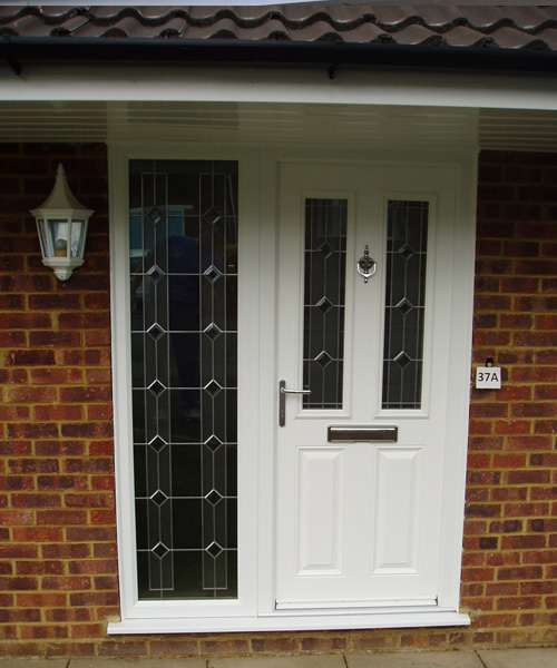 White Composite Door in Oxford fitted by Paradise Windows