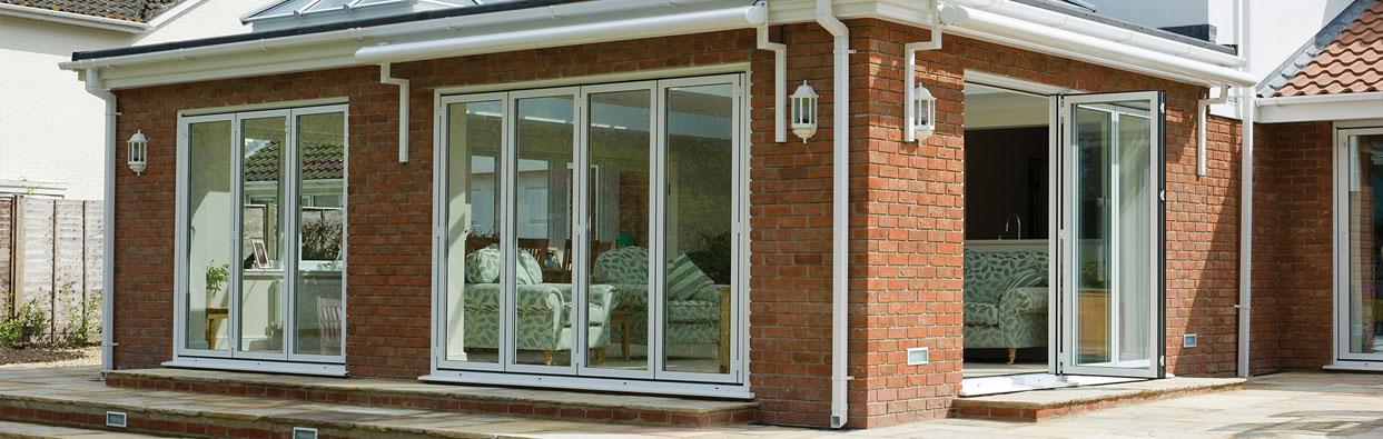 White Bi-Folding Doors installed in Oxfordshire by Paradise Windows