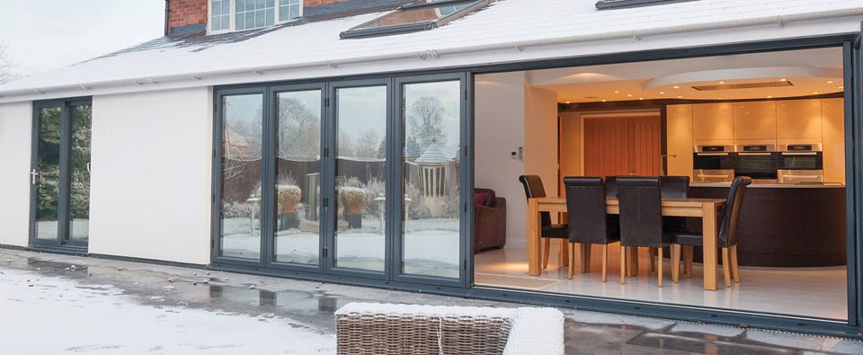 Large Bi-Folding Doors installed in house in Oxfordshire by Paradise Windows