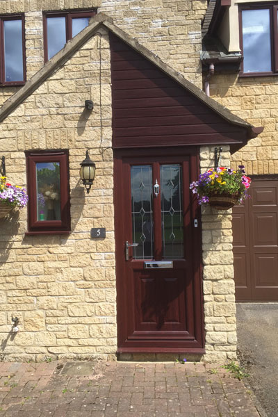 uPVC Timber Effect Door installed by Paradise Windows