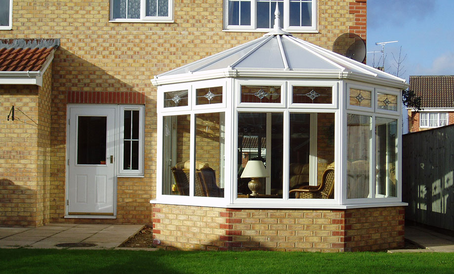 White uPVC Victorian Conservatory installed by Paradise Windows