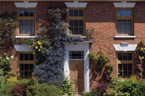uPVC Timber Style Double Glazed Windows on beautiful period country house in Oxfordshire, UK
