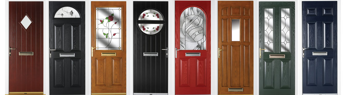 Selection of Colours our Composite Doors are Available in