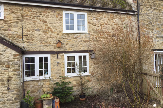 Hardwood Timber Window Frames in Country Cottage in Bicester, Oxfordshire