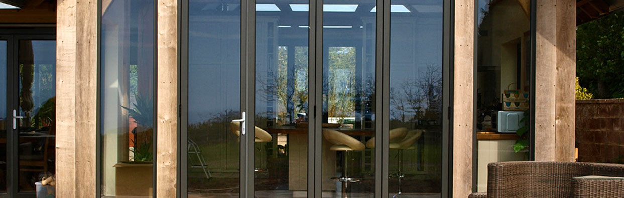 Aluminium Bi-Folding Doors in Oxford - outside view