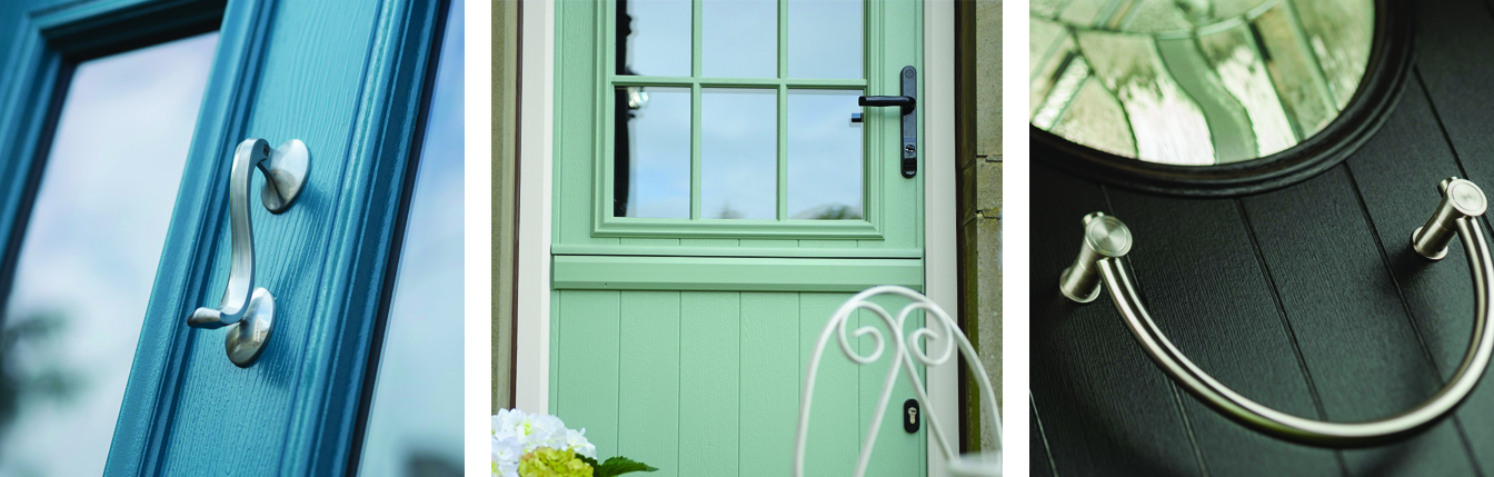 A Selection of composite doors in Oxford