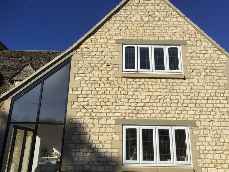 Country house with casement uPVC windows in Oxford