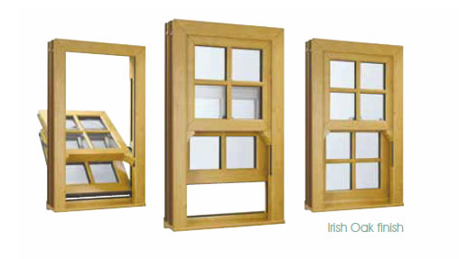Sash windows Irish oak examples