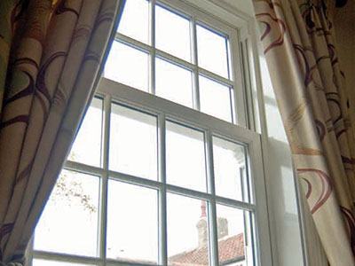 Sash uPVC windows on Oxford property