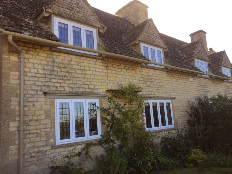 Stone house in Oxford countryside with double glazed uPVC windows