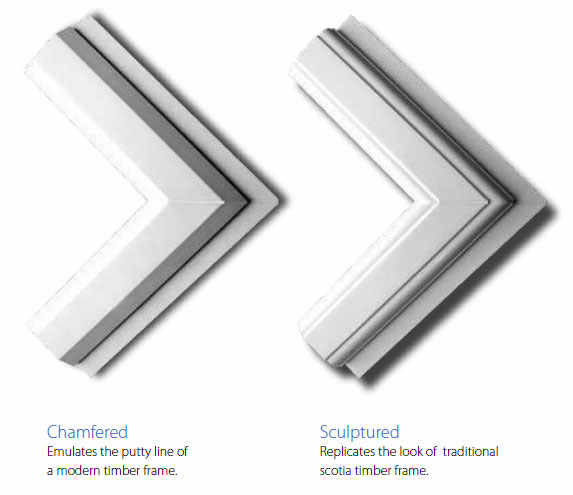 uPVC window frame styles