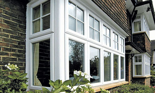 uPVC Windows with Georgian Bars in Oxford on Semi-Detached House