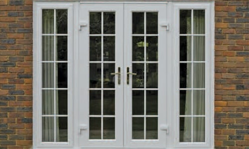 French Doors in Oxfordshire with Georgian Bars