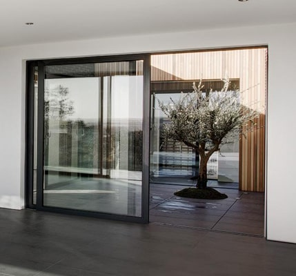 Sliding Patio Doors overlooking courtyard in Oxford