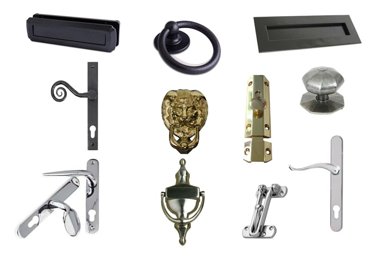 Composite Door finishing options including knockers and handles - Paradise Windows Oxford