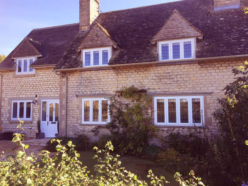 Stone cottage with uPVC double glazed windows in Oxford